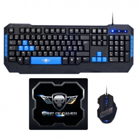 SPIRIT OF GAMER PRO-MK6 - Pack Souris Clavier Gamer