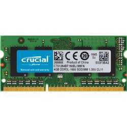 MEMOIRE SO-DIMM DDR3L 4 GO CRUCIAL - 1600MHz