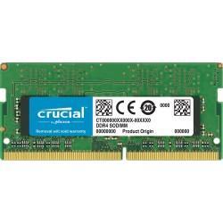 MEMOIRE SO-DIMM DDR4 4 GO CRUCIAL - 2666MHz